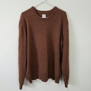 Gap   Brown Wool Blend Pullover Sweater Size XL